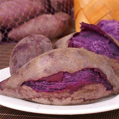 现挖特产小香薯小紫薯紫心新鲜山芋5